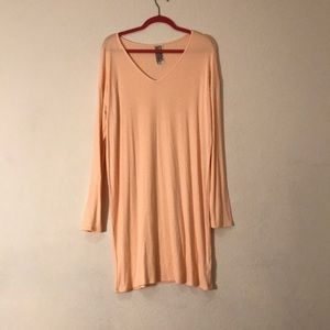 Peach colored simple light dress by Free People